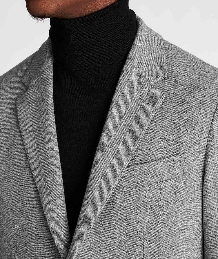 Herringbone Wool-Cashmere Sports Jacket image 3