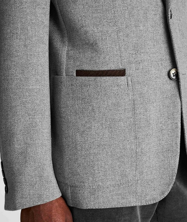 Herringbone Wool-Cashmere Sports Jacket image 4