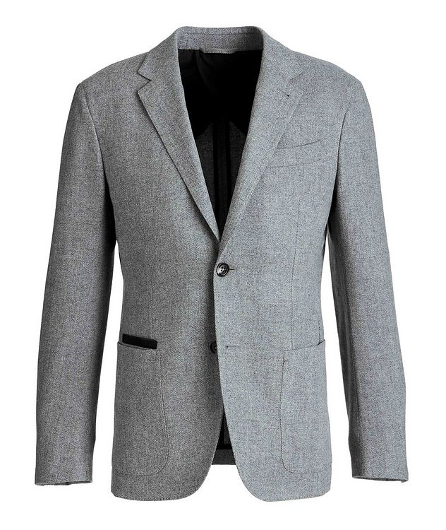 Herringbone Wool-Cashmere Sports Jacket picture 1