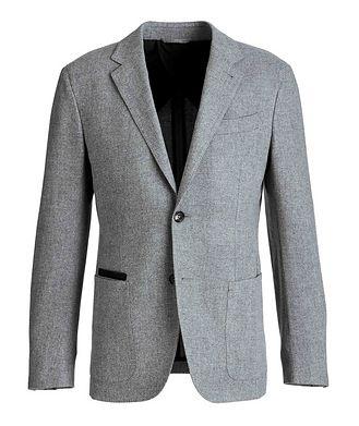 Ermenegildo Zegna Herringbone Wool-Cashmere Sports Jacket