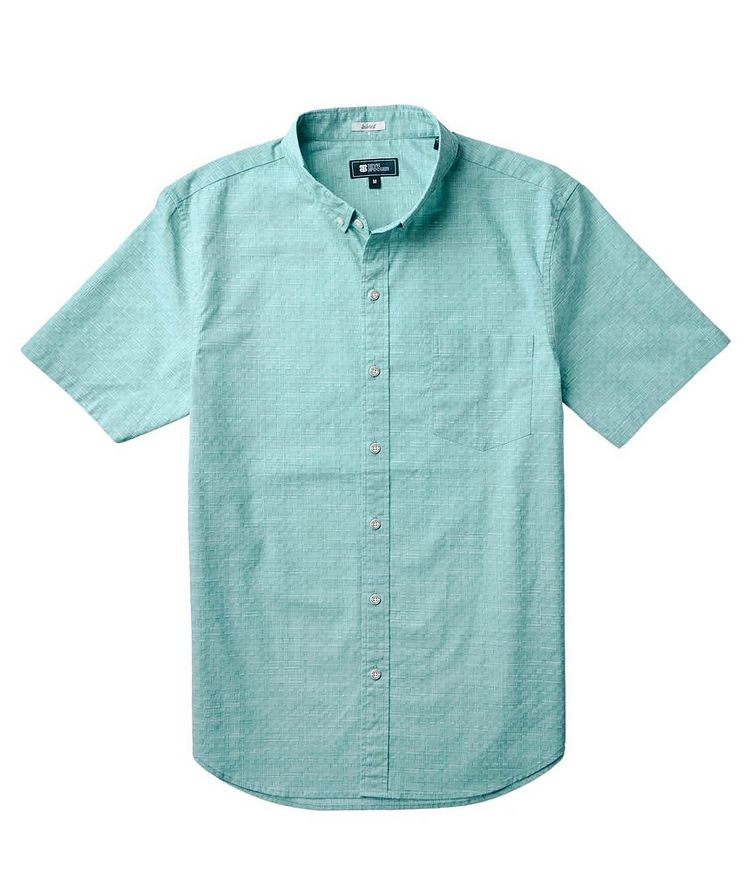 Short-Sleeve Stretch-Cotton Shirt image 1
