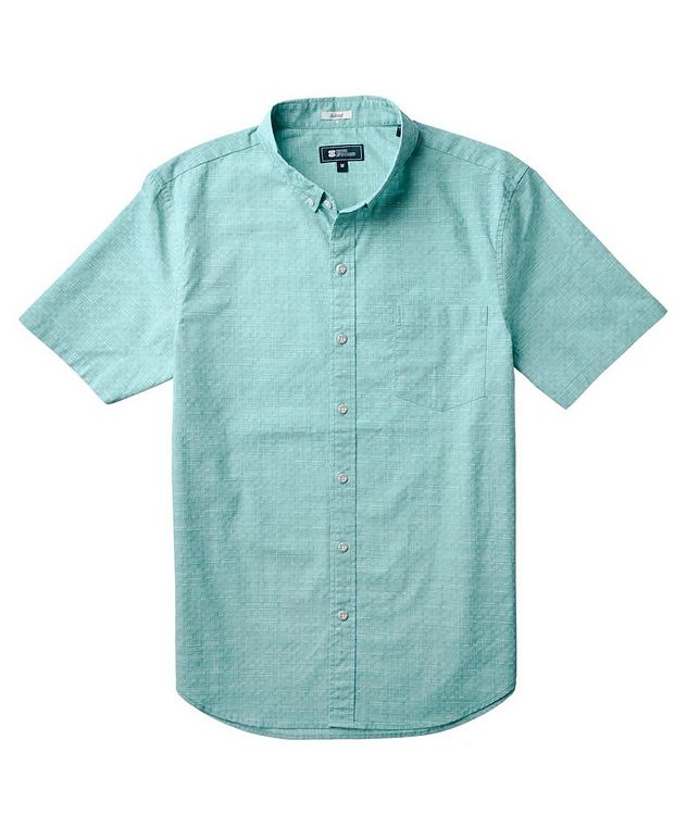 Short-Sleeve Stretch-Cotton Shirt picture 2