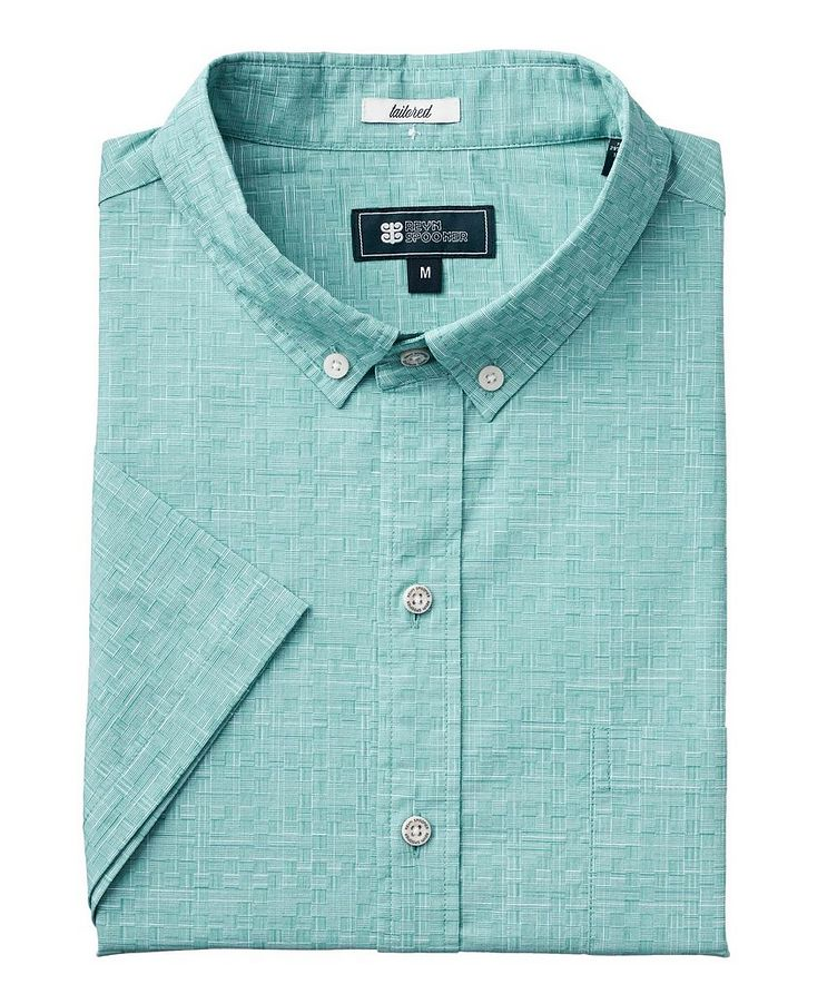 Short-Sleeve Stretch-Cotton Shirt image 0
