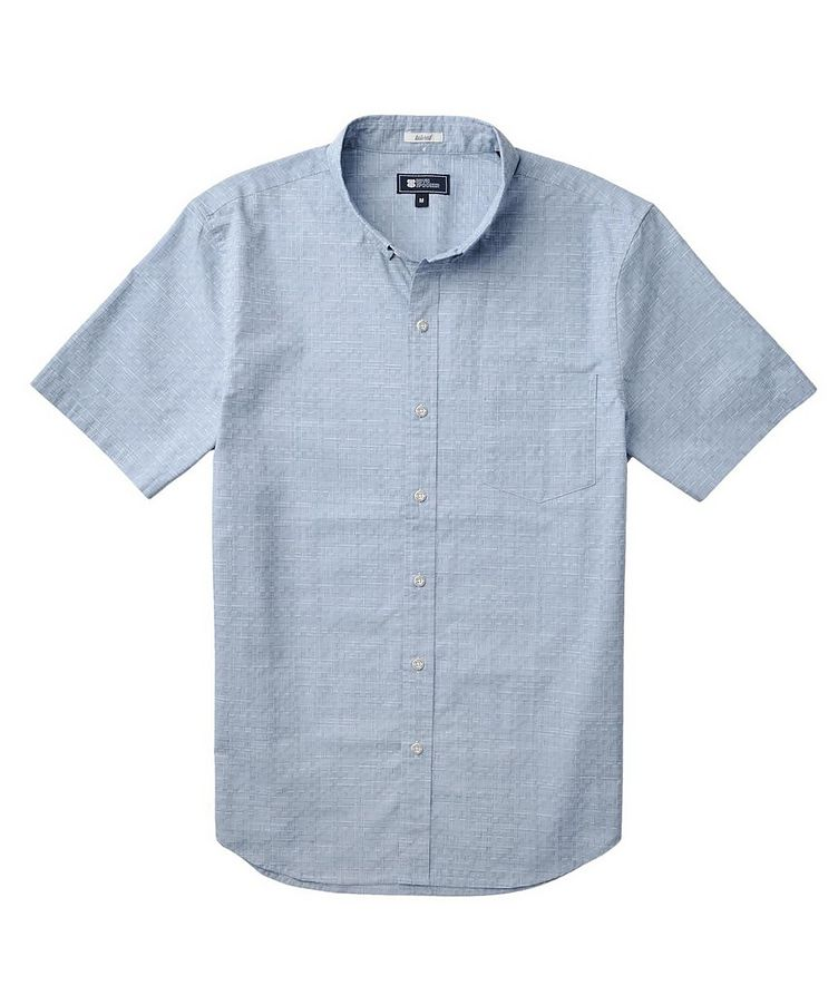 Short-Sleeve Stretch-Cotton Shirt image 1