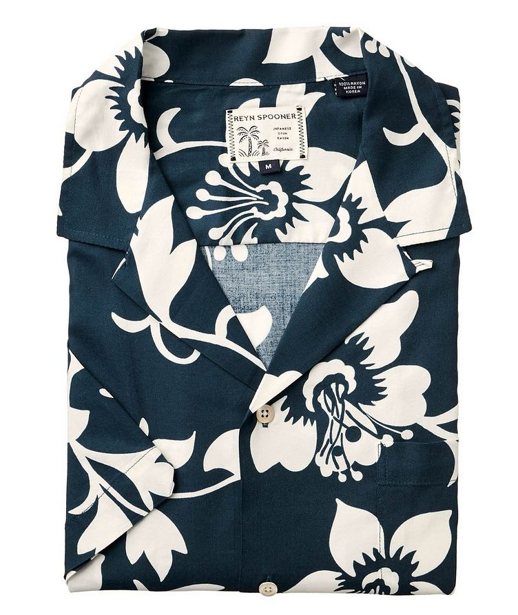 Short-Sleeve Tropical-Printed Shirt image 0