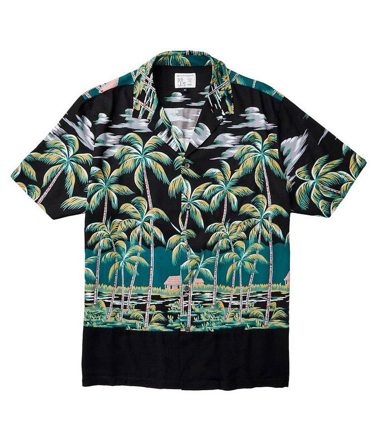 Chemise à motif tropical à manches courtes image 1