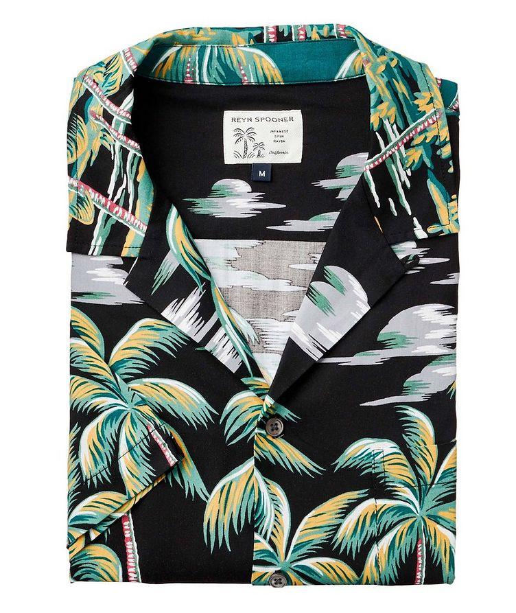 Chemise à motif tropical à manches courtes image 0