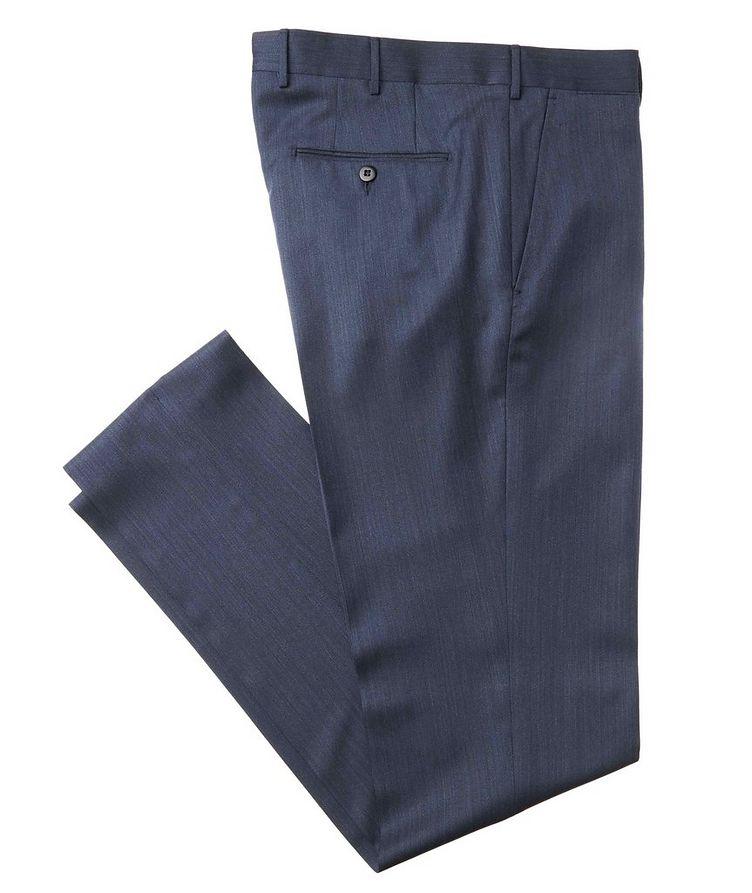 Slim Fit Wool-Silk Dress Pants image 0