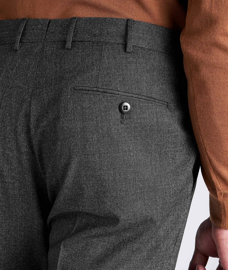 Slim Fit Stretch-Wool Dress Pants image 3
