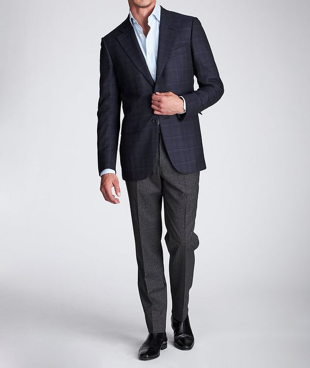Slim Fit Stretch-Wool Dress Pants picture 6