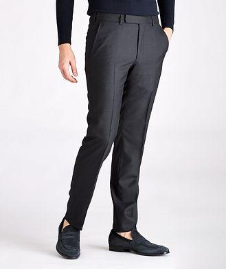 Ermenegildo Zegna Pantalon habillé en laine de coupe amincie