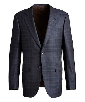 Ermenegildo Zegna Couture Checked Wool Sports Jacket