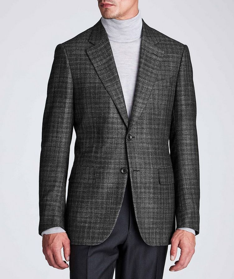 Couture Checked Cashmere-Silk Sports Jacket image 1