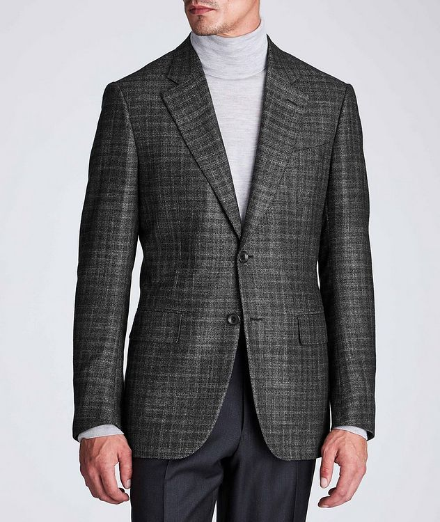 Couture Checked Cashmere-Silk Sports Jacket picture 2