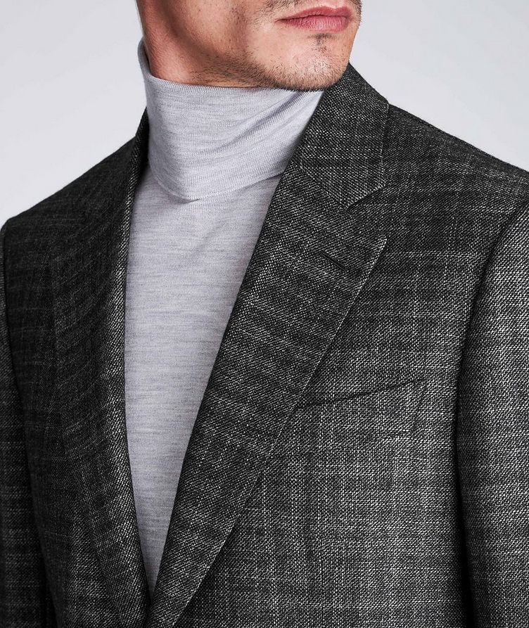 Couture Checked Cashmere-Silk Sports Jacket image 3