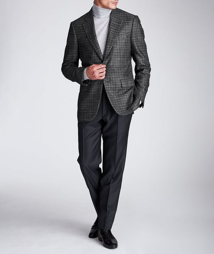 Couture Checked Cashmere-Silk Sports Jacket image 4