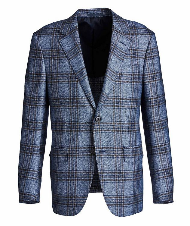 Milano Easy Checked Silk-Cashmere Sports Jacket picture 1