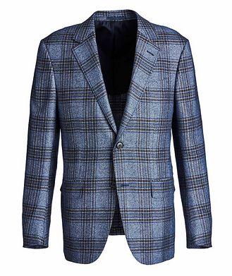 Ermenegildo Zegna Milano Easy Checked Silk-Cashmere Sports Jacket