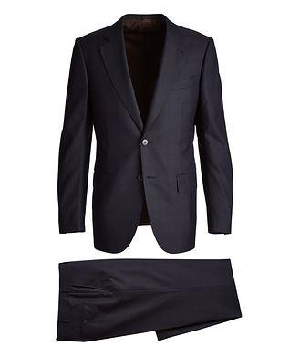 Ermenegildo Zegna Couture Checked Wool-Silk Suit