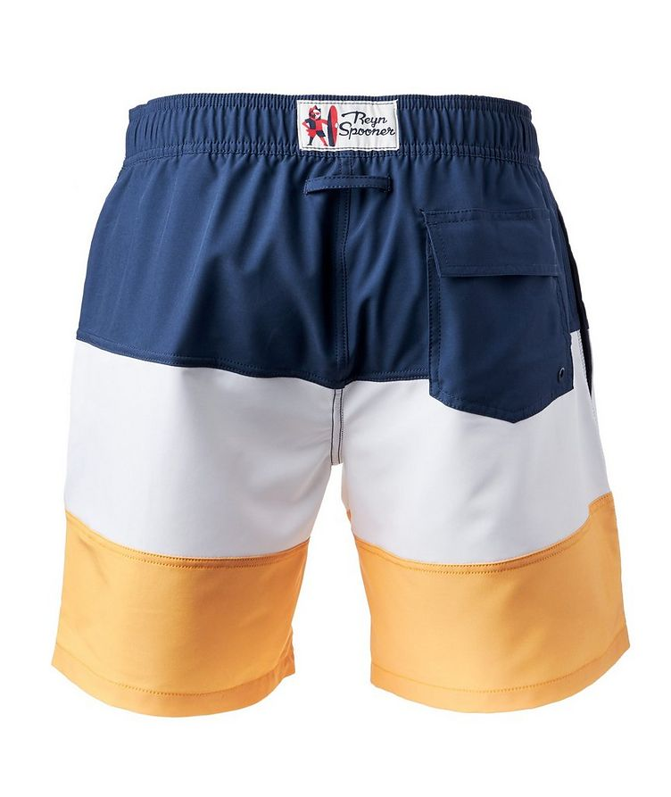 Colour-Blocked Stretch-Bamboo Swim Trunks image 1