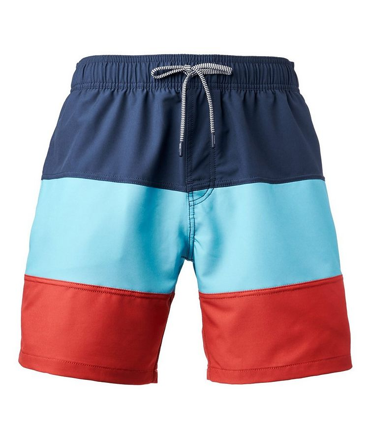Colour-Blocked Stretch-Bamboo Swim Trunks image 0