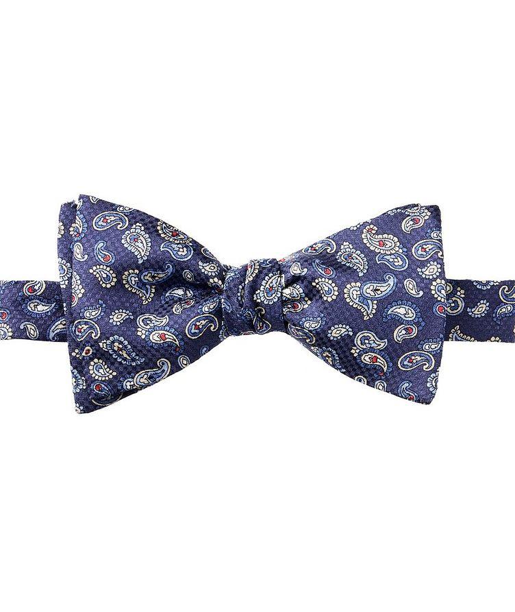 Paisley-Printed Silk Bow Tie image 0