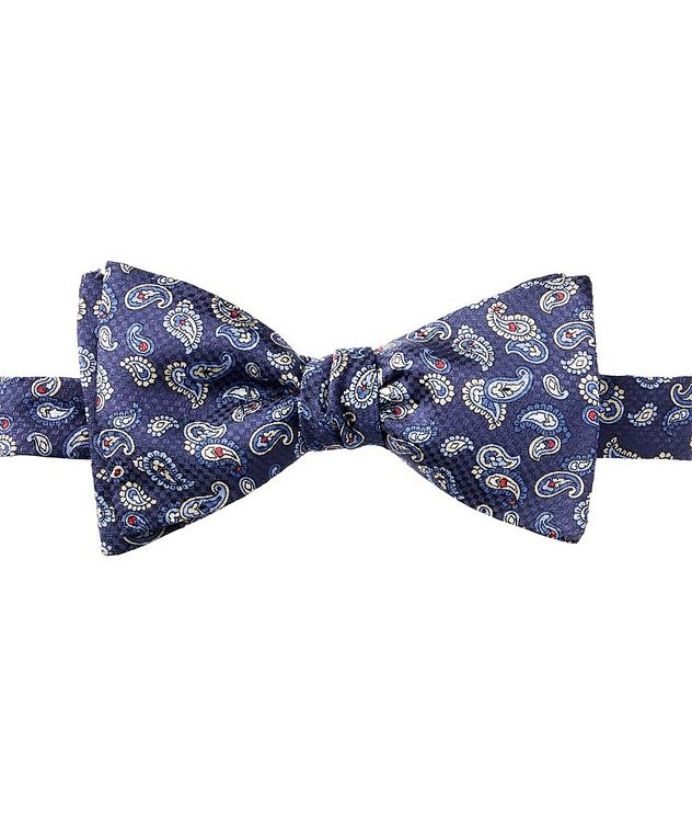 Paisley-Printed Silk Bow Tie picture 1