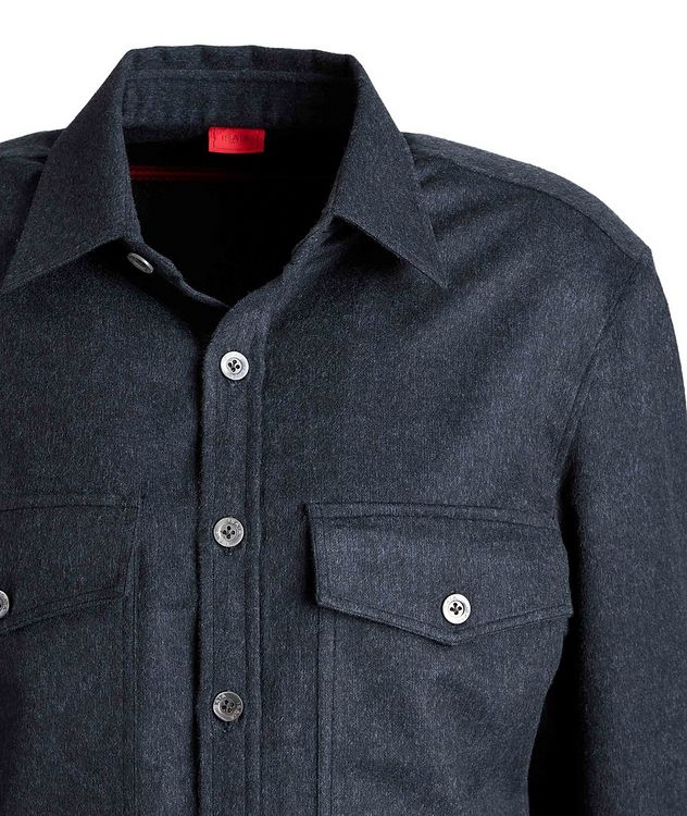 Wool-Cashmere Flannel Shirt picture 3