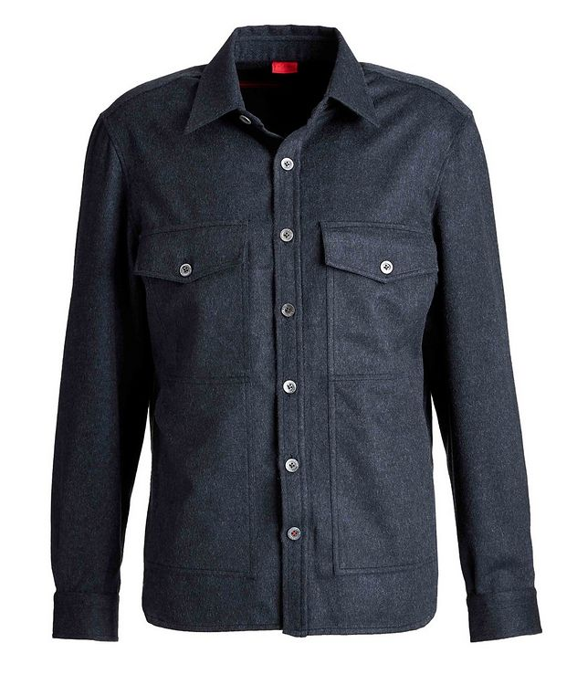 Wool-Cashmere Flannel Shirt picture 1