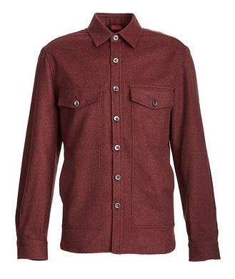 Isaia Wool-Cashmere Flannel Shirt