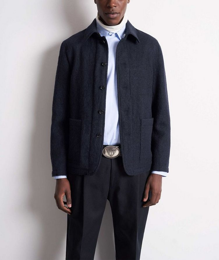 Gio Unstructured Boiled Wool Sports Jacket image 1