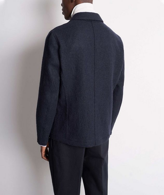 Gio Unstructured Boiled Wool Sports Jacket picture 3