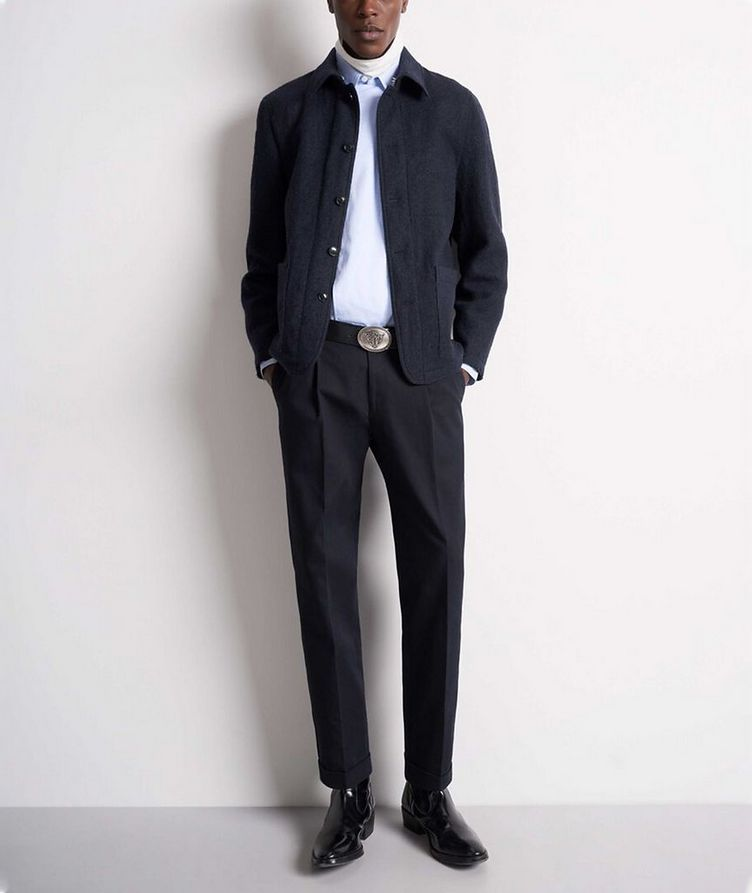 Gio Unstructured Boiled Wool Sports Jacket image 3