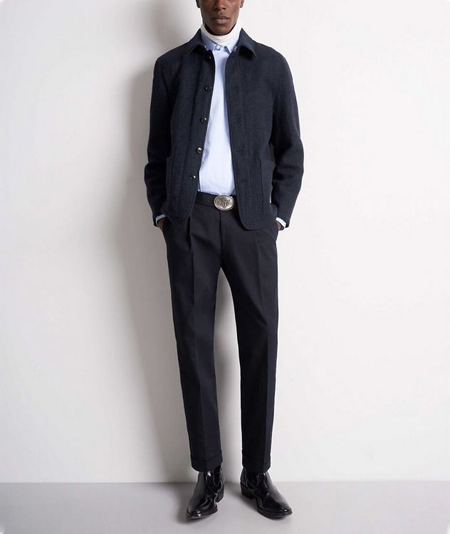 Gio Unstructured Boiled Wool Sports Jacket picture 4