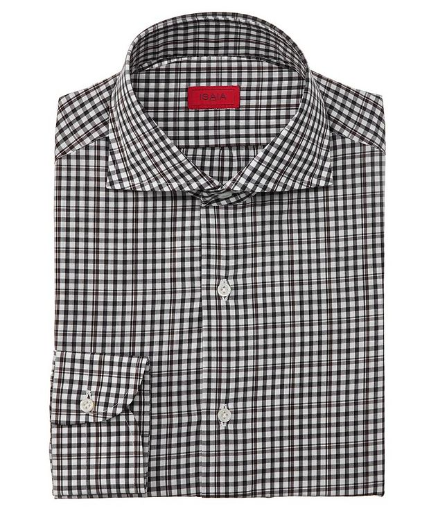 Contemporary-Fit Checked Dress Shirt picture 1