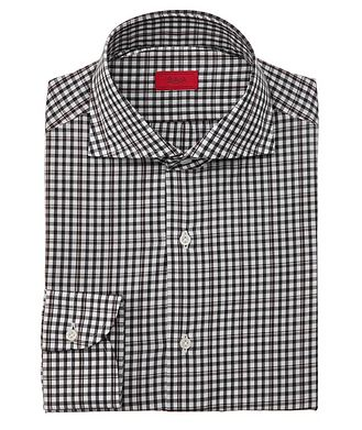 Isaia Contemporary-Fit Checked Dress Shirt