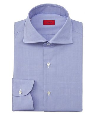 Isaia Contemporary-Fit Glen-Checked Dress Shirt