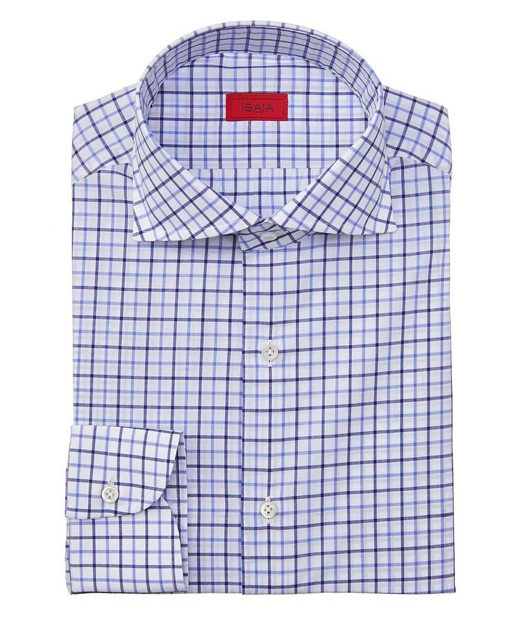 Contemporary-Fit Checked Dress Shirt image 0