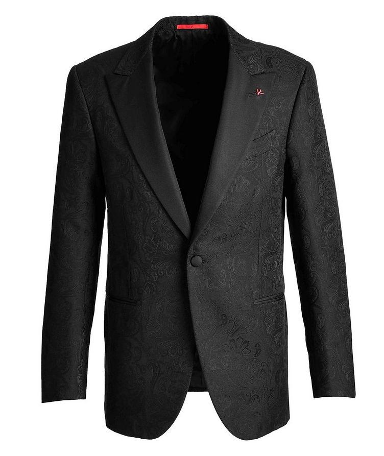 Paisley Wool, Cotton, and Silk Tuxedo Jacket image 0