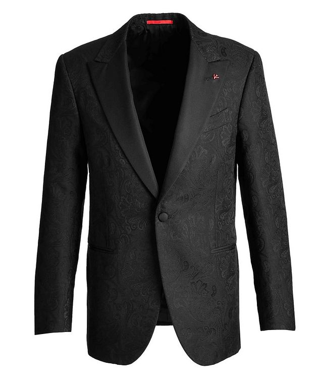 Paisley Wool, Cotton, and Silk Tuxedo Jacket picture 1