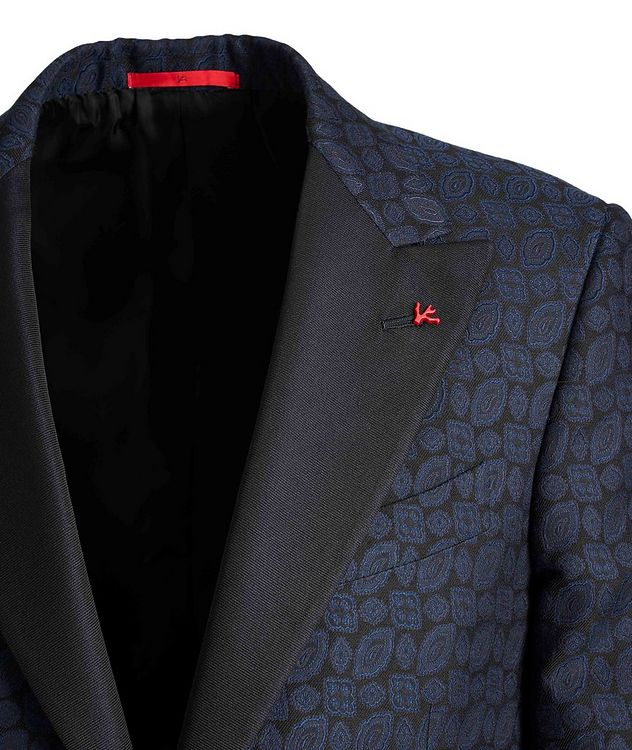 Paisley Wool, Cotton, and Silk Tuxedo Jacket picture 3