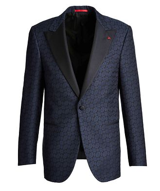 Isaia Paisley Wool, Cotton, and Silk Tuxedo Jacket