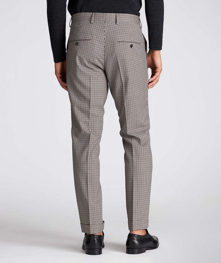 Slim Fit Checkered Dress Pants image 1