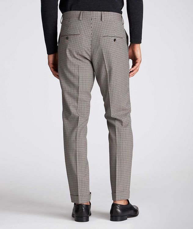 Slim Fit Checkered Dress Pants picture 2