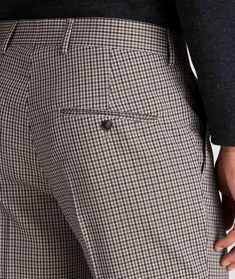 Slim Fit Checkered Dress Pants image 2