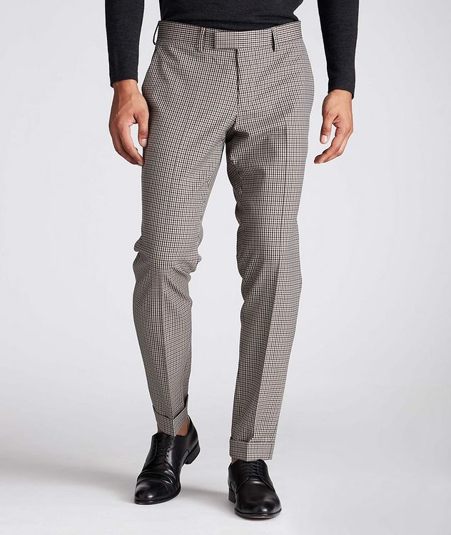 Slim Fit Checkered Dress Pants picture 1