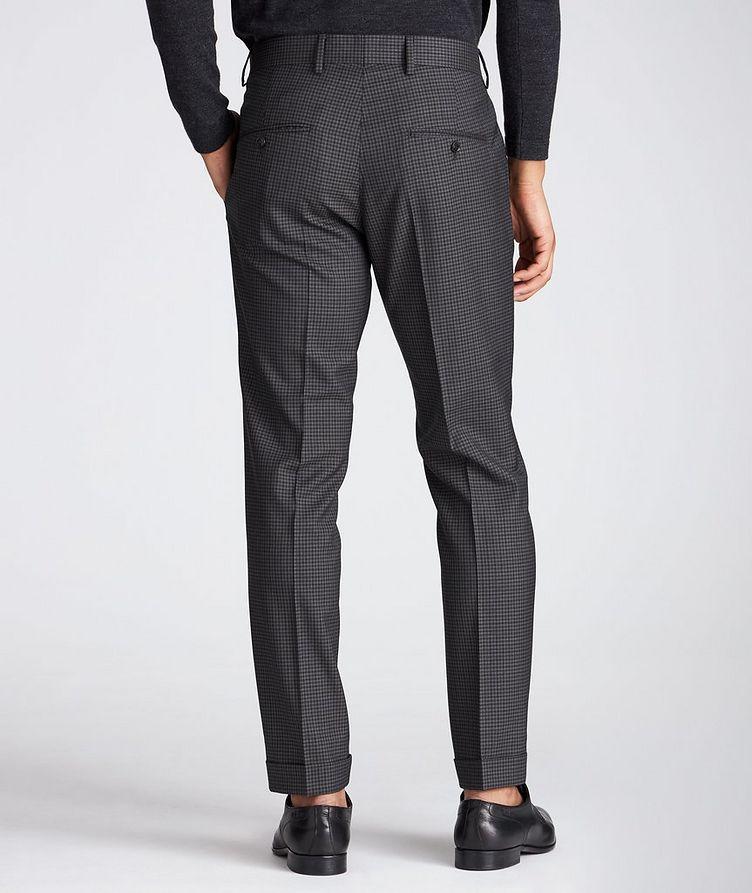 Slim Fit Checkered Dress Pants image 1