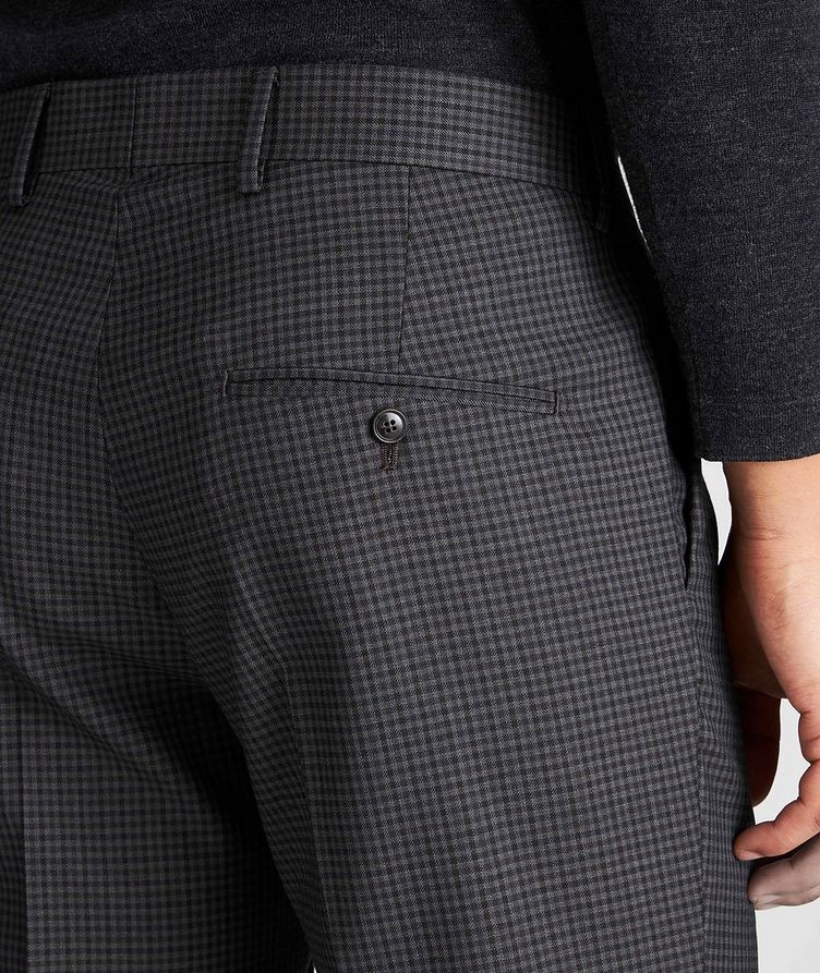 Slim Fit Checkered Dress Pants image 2