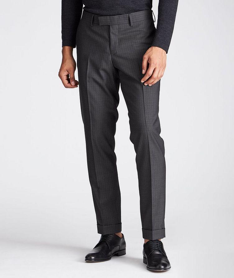 Slim Fit Checkered Dress Pants image 0