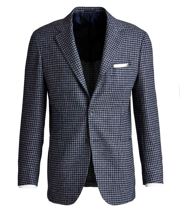 Contemporary Fit Wool, Silk, and Linen Sports Jacket picture 1